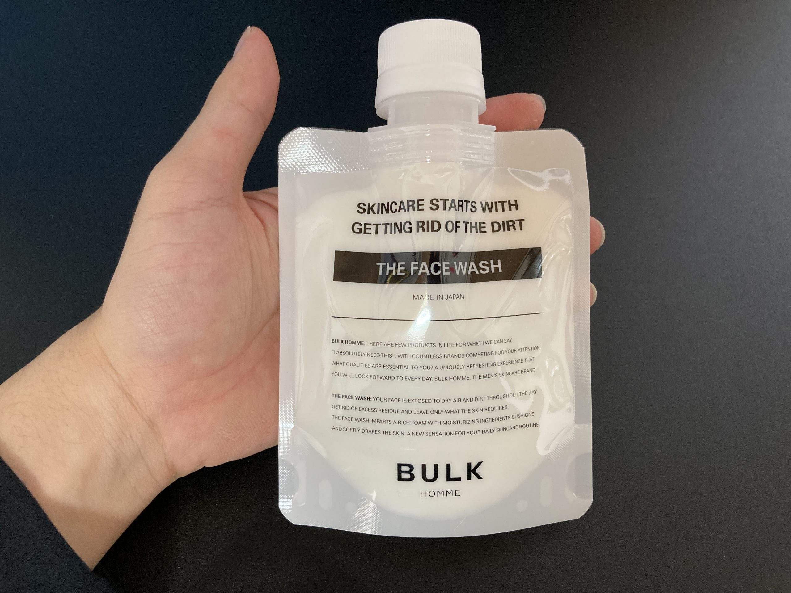 バルクオム 洗顔料